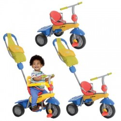 smart trike breeze yellow blue